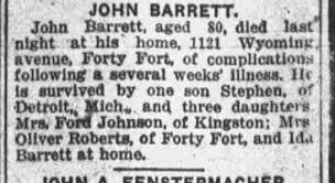 Wyoming Barrett's - Newspapers.com