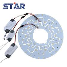 replacement led light source for ceiling panel kitchen light 7 20w 100 240v 2d cfl lamp retrofit pcb board with magnet driver