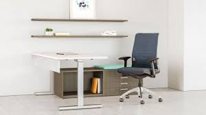 Wooden desk contemporary mercial height adjustable