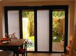 sliding door blinds between glass