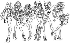 Small Picture winx coloring pages by elfkena on DeviantArt