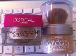 l to r l oreal paris magic smooth soufflé true match naturale gentle mineral makeup