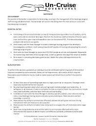 Job Duty Descriptions For Resume From Bartender Duties Resume