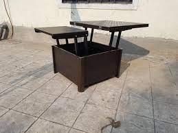 wooden height adjustable rectangular