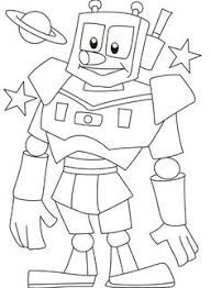 Small Picture Simple Robot Coloring Page for kids Robot colouring pages