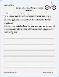 Free Printable Cursive Handwriting Sentence Worksheets Download