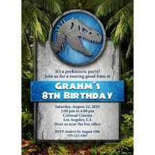 Jurassic Park Invitations Jurassic Personalized Invitation Each