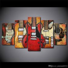 Canvas Art 2017 Hd Printed Canvas Art Guitar Instruments Music Painting Decor