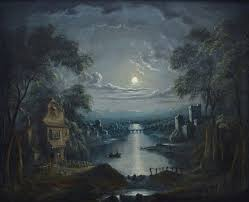sebastian pether moon lit riverside sebastian pether moon lit water side