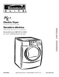 kenmore elite he3 dryer ifixit kenmore elite electric dryer use care guide