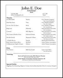 beginner acting resume sample beginner acting resume template luxury free acting resume