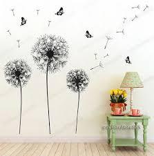 huge dandelion erfly flowers wall