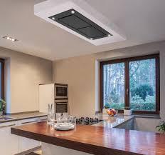 dusk t1 100cm designer black glass ceiling cooker hood with inline motor 700m3 h