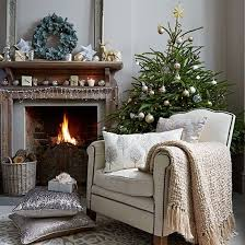 Christmas Living Room Decorating Ideas Inspiration Neutral Christmas Living Room With Decorations Living Room