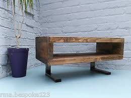 1 Of 5 Tv Stand Contemporary Rustic Industrial Tv Unit With L Shaped Legs I9