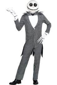 Adult Pinstripe Jack Skellington Costume   The Nightmare Before Christmas
