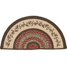 half moon rugs kitchen roselawnlutheran circle for within plan 11