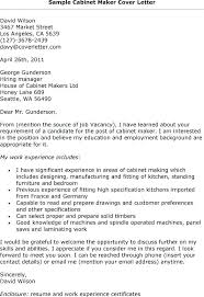 How To Create Resume Cover Letter Cabinet Maker Cover Letter 3 Cover
