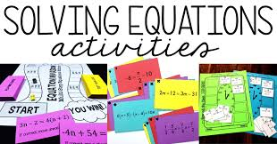 solving equations activities