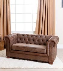 Kids Chairs RJ Mini Chesterfield Sofa Antique Brown