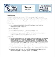 Literature Review Table Template 9 Literature Review Outline Templates Samples Free Premium