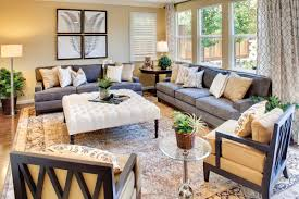 Could Use Gray Couches With Yellow And Blue Pillows And Add More