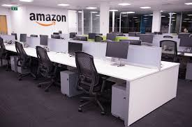 google main office pictures. Amazon Main Office Desking Project - Bench With Pedestal Google Pictures