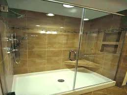 medium size of tile shower base installation guide ready pan liner over fiberglass showers that