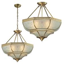 elk 22007 4 french damask traditional brushed brass ceiling light pertaining to hanging ceiling light fixtures