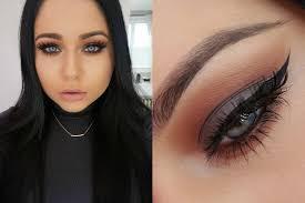 cool grey rich warm brown smokey eye makeup tutorial