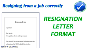 Template Of Letter Of Resignation Format Of A Resignation Letter Resignation Letter Format Explained