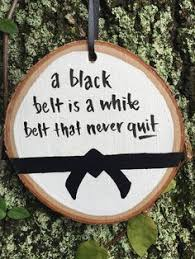 martial arts gift black belt holiday ornament martial arts ornament black belt wood ornament black belt karate bjj