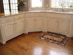 Kitchen Bar Modern White Distressed Kitchen Cabinets With Granite