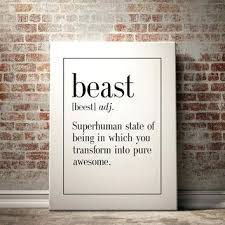 inspirational wall art for office. Plain Office Inspirational Wall Art For Office Beast Definition Print Man Cave Decor  Home Kitchen   Throughout Inspirational Wall Art For Office L