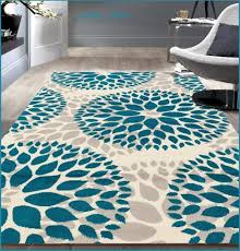 8 x 10 teal gray off white area rug contemporary modern unique carpet decor