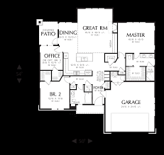 image for pasadena wonderful compact craftsman ranch main floor plan