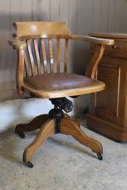 vintage oak 1930s adjule desk office chair