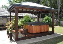 patio design ideas with hot tub