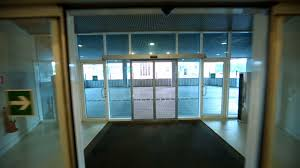 glass door for office. Walk Through Entrance Automatic Glass Door Of Office Building For D