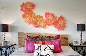 modern paper lanterns create a fun and unexpected bedroom wall decorating idea image twist tours