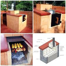 plans all in one outdoor grill oven stove and smoker building with bricks