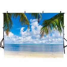 Us 9 23 16 Off Beach Photography Backdrops Hawaii Luau Party Backdrop For Photography Ocean Background For Photo Studio Photocall Boda In Background
