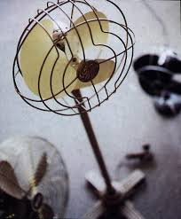 general electric quiet blade pedestal fan from the 1930s