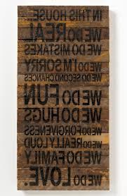 wall art words wooden