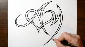 Be A Heart Design Drawing Letters A And M With A Heart Design