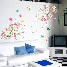 pink flower wall decor tree pink flower wall sticker home decor poster erflies wall decoration removable pink flower wall decor