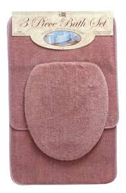 3 piece bathroom rug set 3 piece solid bath rug set rose 3 piece bathroom rug