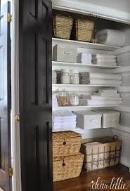 Bathroom Closet Organization Ideas Gorgeous 48 Beautifully Organized Linen Closets The Happy Housie