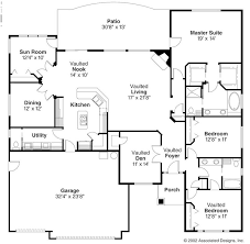 Ranch House Plan With 3 Bedrooms And 35 Baths  Plan 4445House Plans Ranch