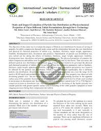 Pdf Study And Impact Evaluation Of Particle Size
